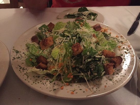 Londonderry, NH: Large Caesar Salad.  Enough for three to share.