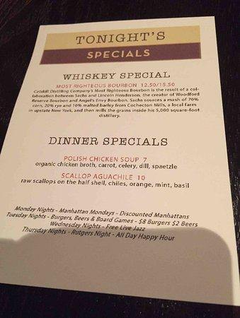 New Brunswick, NJ: Specials Menu
