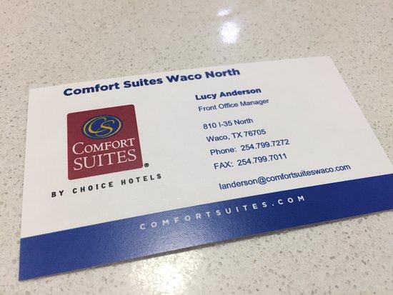 Comfort Suites Waco North: Info