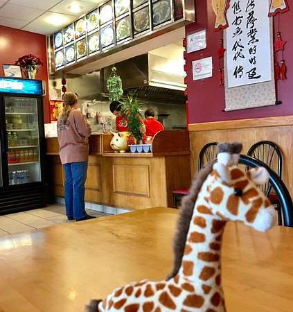 Brevard, NC: Norman the Giraffe at New China Restaurant