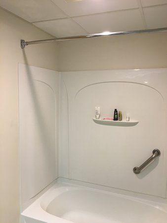 Bethel, CT: Missing shower curtain; removed and not replaced.
