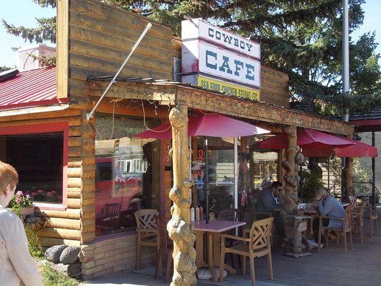 Dubois, WY: Front of the Cowboy Cafe with Outdoor Seating