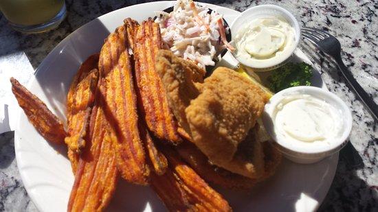 pier plaza restaurant pickled herring lounge white fish sweet potato fries