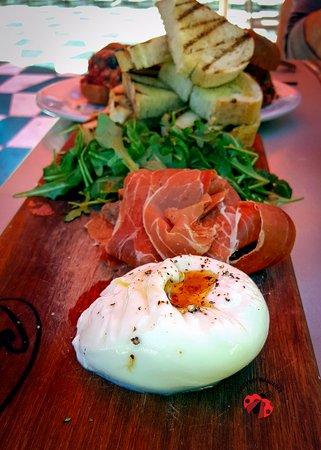 Catelli's: The burrata and prosciutto plate was amazing!