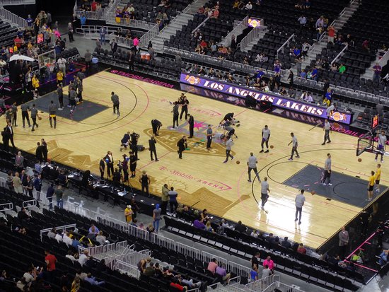Basketball with the Lakers Picture of T Mobile Arena Las Vegas