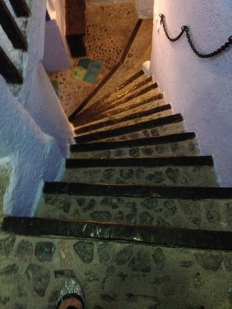 Hotel Molino: first light of steep stairs