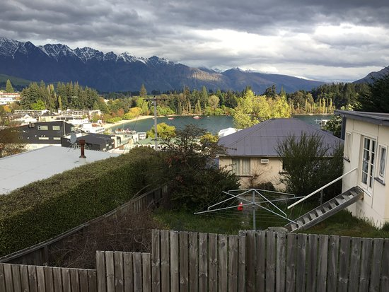 Browns Boutique Hotel: View of not-so-pretty neighbors to beautiful mountains beyond