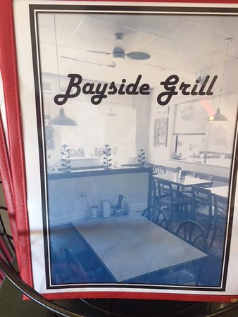 Menu cover,  Bayside Grill,  Fir Street, Alert Bay, British Columbia