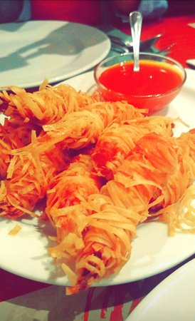 China Town : the famous thread shrimps