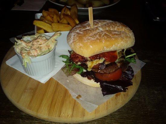 Sticker, UK: 8oz Burger