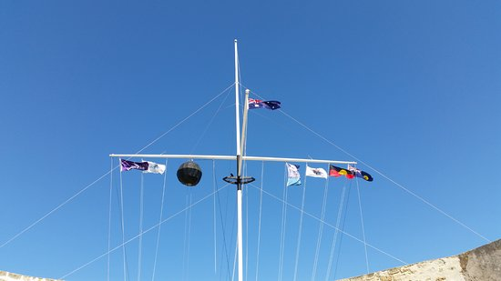 The Fremantle Round House: Flags.