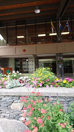 Banff Park Lodge Resort and Conference Centre: 入り口の花壇