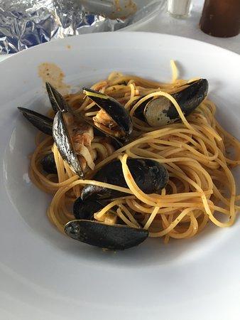 Kilchberg, Suiza: Meeresfrüchtespaghetti
