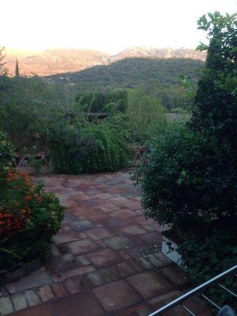 Cortes de la frontera in the valley below the town