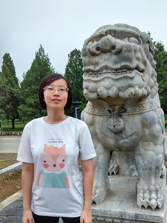 Zunhua, China: The stone lion at the Holy Way