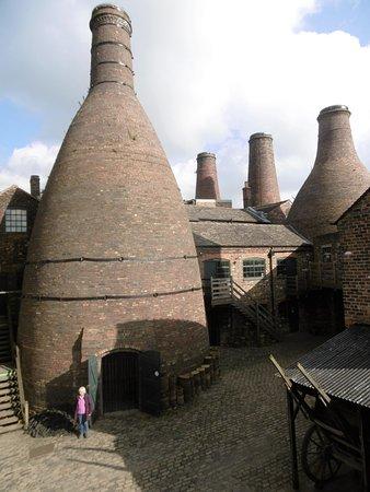 Longton, UK: Kilns at the Gladstone museum