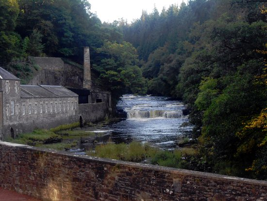 Lanark, UK: A view of the river.