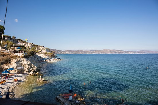Иреон, Греция: Blick vom Bistro
