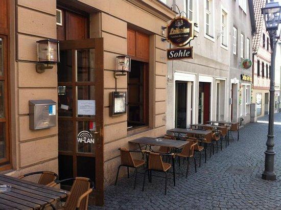 Kulmbach, Germany: Sohle, außen