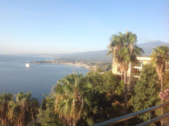 Hotel Villa Belvedere: Blick vom Balkon Zimmer 61