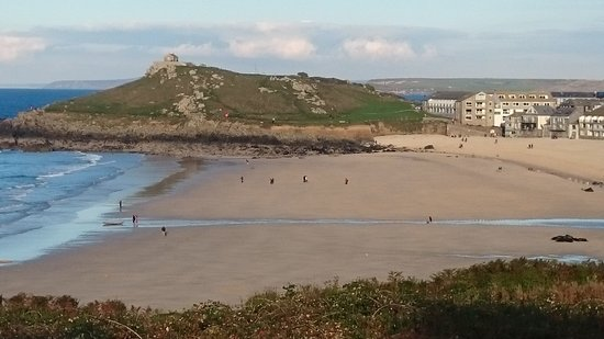 The Keep: Porthmeor beach across to the Island, St Ives
