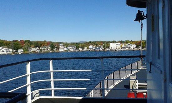 Weirs Beach, Nueva Hampshire: arrivee apres une heure de bateau