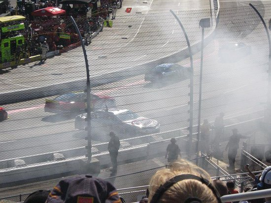 Just one of the pieces of action at Martinsville Speedway!