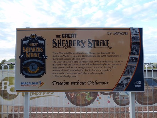 Barcaldine, Австралия: Tree of Knowledge shearers strike story
