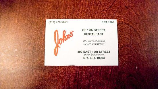 John's of 12th Street Restaurant : John's of 12th