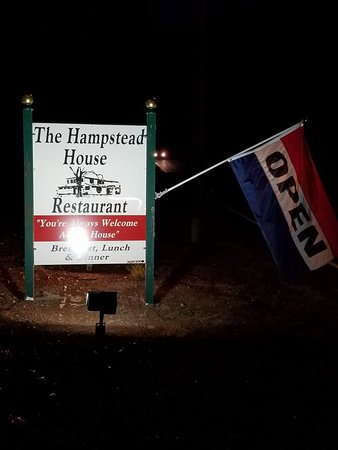 Methuen, MA: Hampstead House Road side Sign