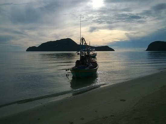Sam Roi Yot, Tailandia: Beach at night