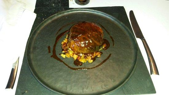 Dury, Francia: Repas: chou farci avec foie gras