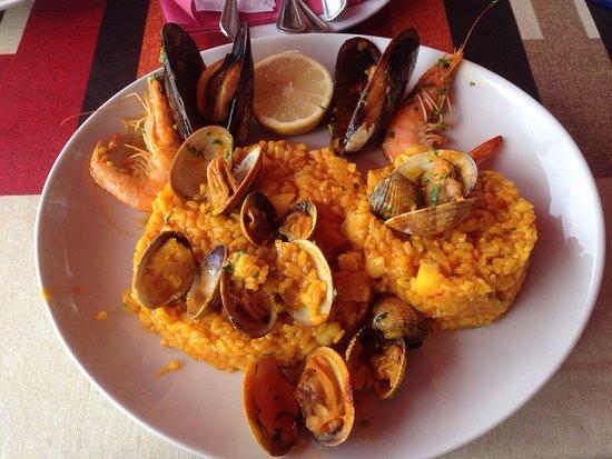 Agüimes, España: Paella de pescado y mariscos. Deliciosa !!!