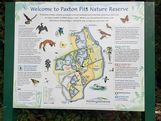 Map Picture of Paxton Pits Nature Reserve St Neots TripAdvisor