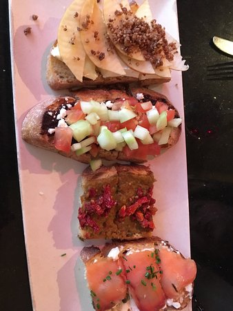 San Mateo, Californië: Good choices on bruschetta