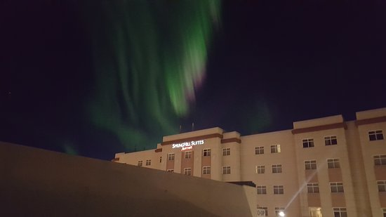 SpringHill Suites By Marriott Fairbanks: Northern Lights Over The Hotel
