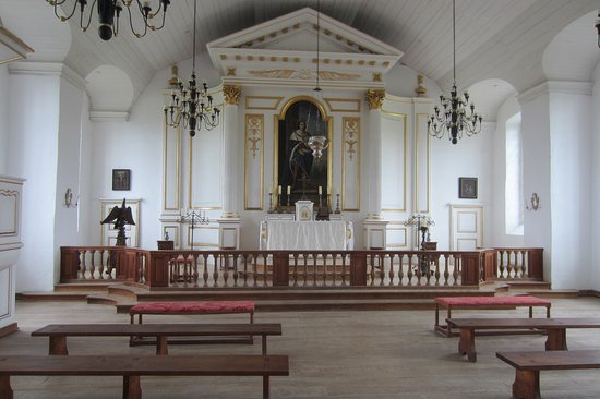 Louisbourg, Canada: The chapel inside the barracks building.