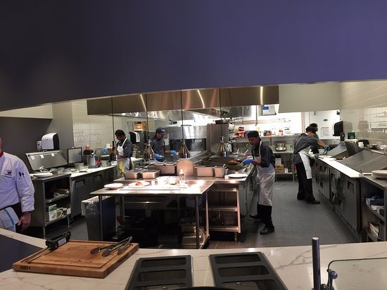 Open kitchen and the pass table Picture of Curve at Roger s