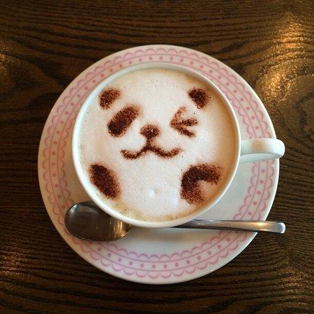latte art of panda