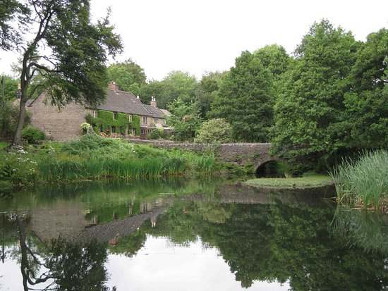Matlock, UK: The millpond at the top of Lumsdale Valley, above the stream