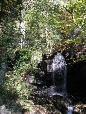Matlock, UK: Waterfall in the Lumsdale Valley