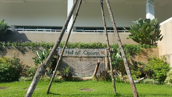 Chiang Saen, Thailand: Our only visual reminder of the Hall of Opium due to the no photography request inside the museu