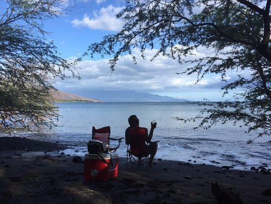 Camp Olowalu: view from out tent site