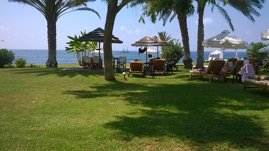 Constantinou Bros Athena Royal Beach Hotel: view out to sea from sun lounger