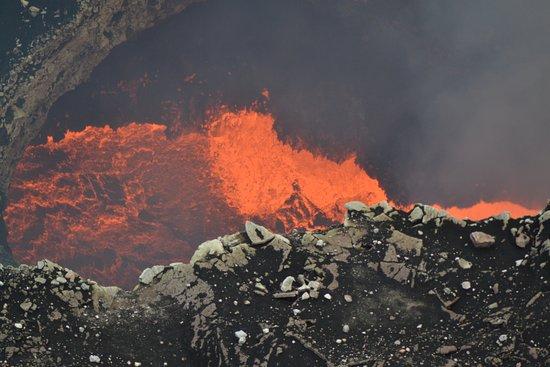Masaya, Nicarágua: Cráter del volcan