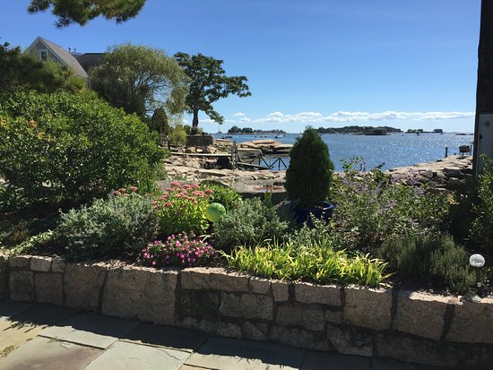 Branford, CT: View from Garden Terrace to Stony Creek Harbor