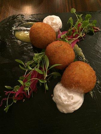 Tavistock, UK: Thai Fishcakes - Simply delicious