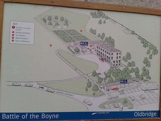 County Meath, Irlanda: Übersichtstafel zum Gelände (am Parkplatz)