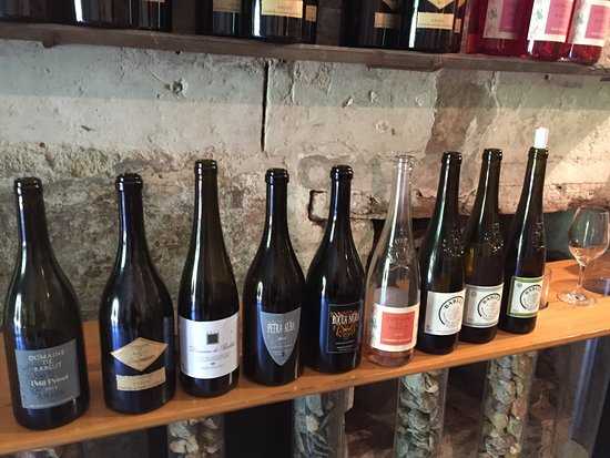 Gennes, France : We had a chance to taste ALL of these wines at our first stop