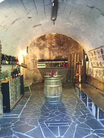 Gennes, France : The tasting room at our first stop